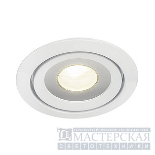 LUZO LED DISK, recessed ring, round, white, 2700K, 12W, 85°