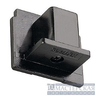EUTRAC end cap for 3-phase track, black