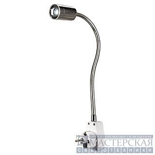 Marbel SLV 146672 DIO FLEX PLUG LED светильник с вилкой, выключ., блоком питания и бел тепл PowerLED 1Вт, хром/ белый