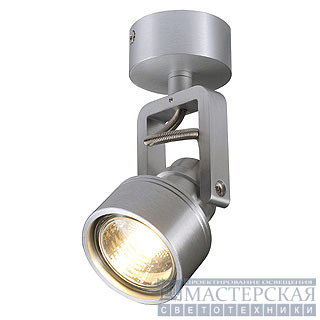 INDA SPOT GU10 wall and ceiling luminaire, alu-brushed , max. 50W