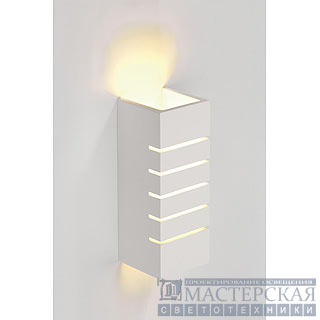 Wall lamp, GL 100 slot, square , white plaster, E14, max. 40W