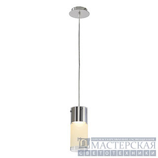 COMMO pendant luminaire, PD-1, round, partially frosted glass, GX53, max. 13W