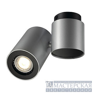 ENOLA_B SPOT I wall and ceiling luminaire, silvergrey/ black, GU10, max. 50W