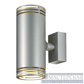 BARRO UP/DOWN wall lamp, WL-1, round, silvergrey, 2x GU10, max. 50W