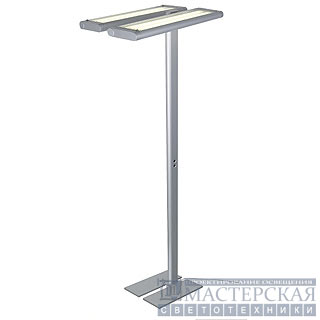 WORK LIGHT FLOOR, silvergrey, 2G11, 4x 55W