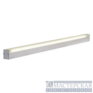 SIGHT 54 wall and ceiling luminaire, rectangular, alu-brushed, 1xT5 54W