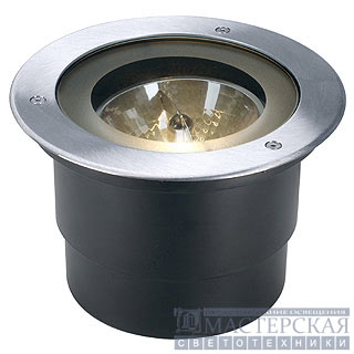 ADJUST QRB111 recessed ground luminaire, round, stainless steel 304, max. 50W, IP67