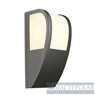 KERAS ELT wall lamp, anthracite, E27 Energy Saver, max. 25W, IP54