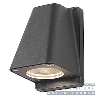 WALLYX GU10 wall lamp, anthracite, max. 50W, IP44