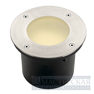 WETSY outdoor luminaire, round , stainless steel 316, GX53, max. 9W, round glass, IP67