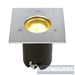 ADJUST GU10 recessed spot, square, stainless steel 304, max. 35W, IP67