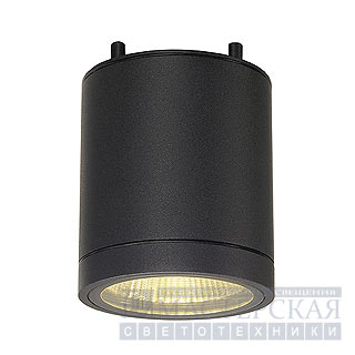 ENOLA_C OUT CL ceiling lamp, round, anthracite, 9W LED, 3000K, 35°