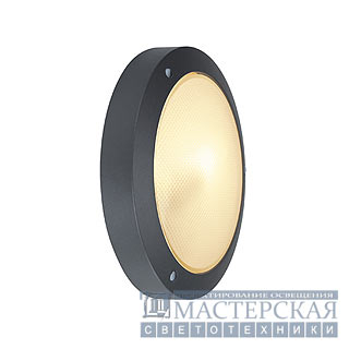 BULAN ceiling luminaire, round , anthracite, E14, max. 60W, satined glass