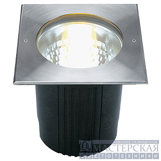DASAR 215 UNI recessed ground luminaire, square, stainless steel 316, E27, max. 80W, IP67