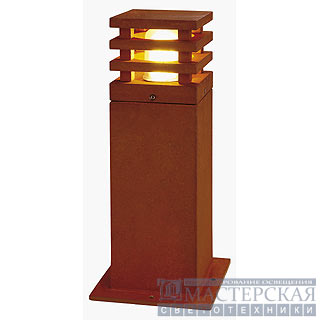 RUSTY SQUARE 40 outdoor lamp, rusted iron, E27 Energy Saver, max. 11W, IP55