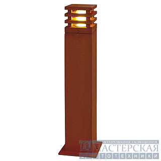 RUSTY SQUARE 70 outdoor lamp, rusted iron, E27 Energy Saver, max. 11W, IP55