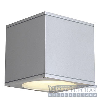 BIG THEO WALL OUT wall lamp, square, silvergrey, ES111, max. 75W
