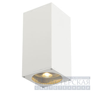 BIG THEO UP/DOWN OUT wall lamp , square, white, ES111, max. 2x75W