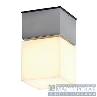 SQUARE C wall and ceiling luminaire, square, alu-brushed , E27 Energy Saver, max. 20W
