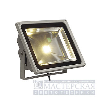 LED OUTDOOR BEAM, silvergrey, 50W, warmwhite, 130°, IP65