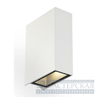 QUAD 2 wall lamp, square, white, LED, 2x3W, 3000K, up-down