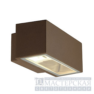 BOX R7s wall lamp, square, rusted, R7s, max. 80W, up-down