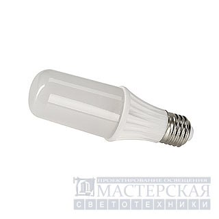 E27 LED tube lamp, 3000K, for outdoor luminaires