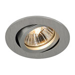 SLV 113466 NEW TRIA 68 GU10 downlight, round, alu-brushed, max. 50W, incl. retaining springs