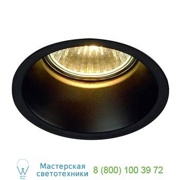 112910 HORN GU10 светильник встраиваемый для лампы GU10 50Вт макс., матовый черный, SLV