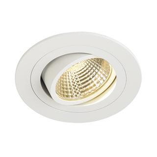 113871 NEW TRIA LED DL ROUND Set, Downlight, mattweiss, 6W, 38°, 2700K, inkl. Treiber, Clipfed., SLV