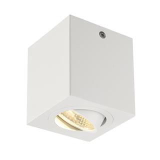 113941 TRILEDO SQUARE CL Aufbau- downlight, mattweiss, LED, 6W, 38°, 3000K, inkl. Treiber, SLV