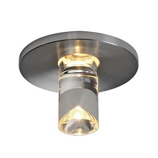 118026 LED Lightpoint Einbauleuchte, rund, alu geburstet, 1W LED, 3000K, SLV