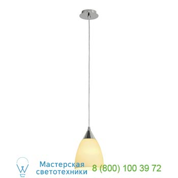 133661 ORION S светильник подвесной для лампы E14 40Вт макс., хром/ белое стекло, SLV