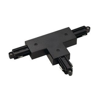 143070 T-Verbinder fur 1-Phasen HV-Stromschiene, Aufbauversion schwarz, Erde links, SLV