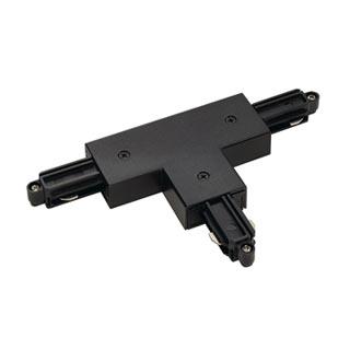 143080 T-Verbinder fur 1-Phasen HV-Stromschiene, Aufbauversion schwarz, Erde rechts, SLV