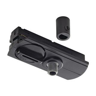 143120 1-Phasen Pendelleuchtenadapter ,schwarz, inkl. Zugentlastung und Gewindestuck, SLV