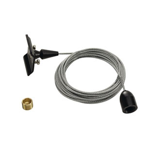 143140 Deckenabhangung fur 1-Phasen HV-Stromschiene, schwarz, 3m, SLV