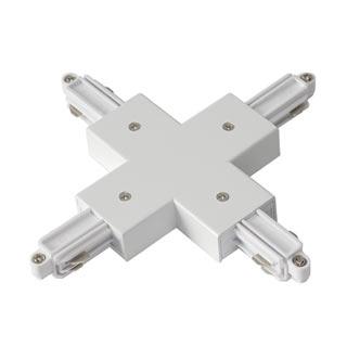 143161 X-Verbinder fur 1-Phasen HV-Stromschiene, Aufbauversion weiss, SLV