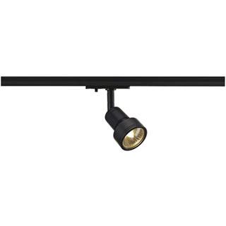 143390 PURI Leuchtenkopf, schwarz, GU10, max. 50W, inkl. 1P.-Adapter, SLV