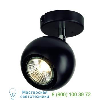 149060 LIGHT EYE 1 GU10 Wand- und Deckenleuchte, schwarz/ chrom, GU10, max. 50W, SLV