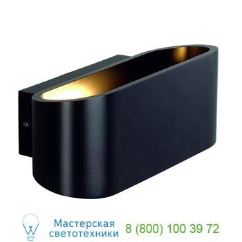 151450 OSSA R7s Wandleuchte, oval, matt black, R7s 78mm, max. 100W, up/down, SLV