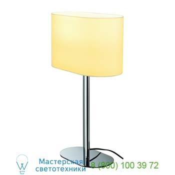 155841 SOPRANA OVAL ТL-1 светильник настольный для лампы E27 60Вт макс., хром/ белый, SLV