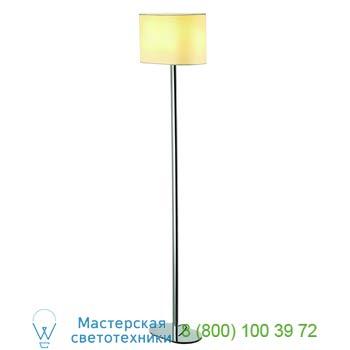 155851 SOPRANA OVAL SL-1 светильник напольный для лампы E27 60Вт макс., хром/ белый, SLV