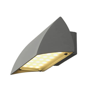 227054 NOVA LED WALL OUT Wandleuchte, silbergrau, 4.2W, 3000K, IP44, SLV