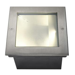 229383 DASAR LED SQUARE Bodeneinbau- leuchte, asymmetrisch, Edel- stahl 316, 28W, 3.000K, SLV