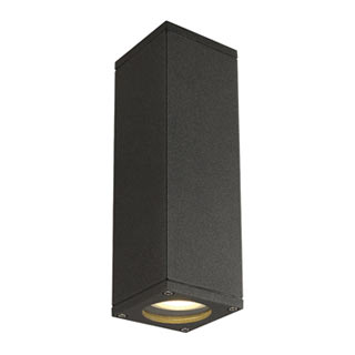 229535 THEO UP-DOWN OUT Wandleuchte, eckig, anthrazit, GU10, max. 2x35W, SLV