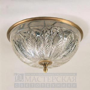CL0100.BR.SE with XCL0100.AG Gunnersbury Flush Ceiling Light потолочный светильник Vaughan