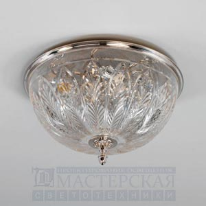 CL0100.NI.SE with XCL0100.AG Gunnersbury Flush Ceiling Light потолочный светильник Vaughan