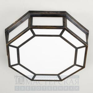 CL0109.BZ Hunton Octagonal Flush C/L Large потолочный светильник Vaughan