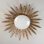 CL0161.GI Sunburst Flush Ceiling Light потолочный светильник Vaughan